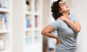 back pain due to breast